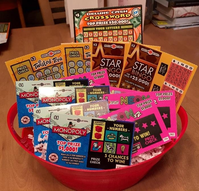 "Lottery Scratch-Off Ticket Basket Up For Bids At ""east Coast with Lottery Ticket Fundraiser"