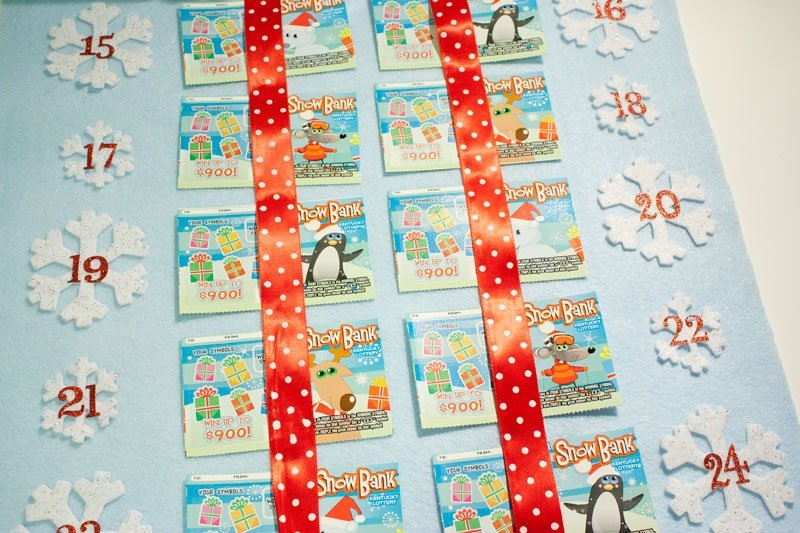 Lottery Ticket Advent Calendar | Chica And Jo intended for Lottery Calendar Ideas
