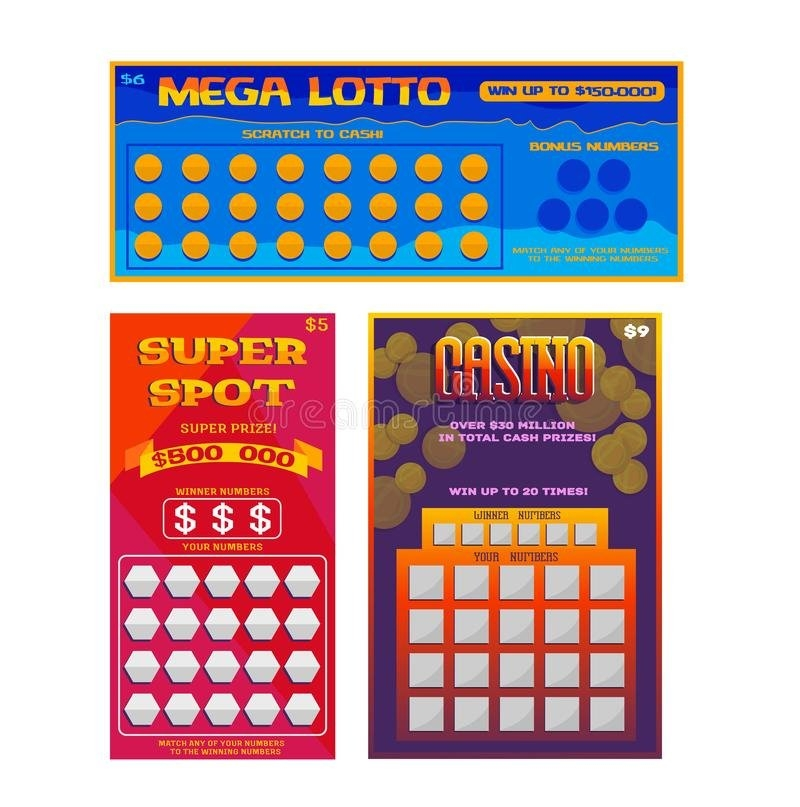 Lotto Ticket Stock Illustrations – 609 Lotto Ticket Stock in Lotto Bonus Number Raffle Template Photo