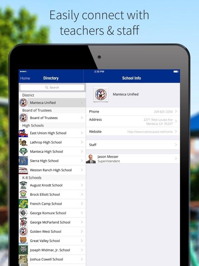 Manteca Usd On The App Store regarding Manteca Unified Calendar Image