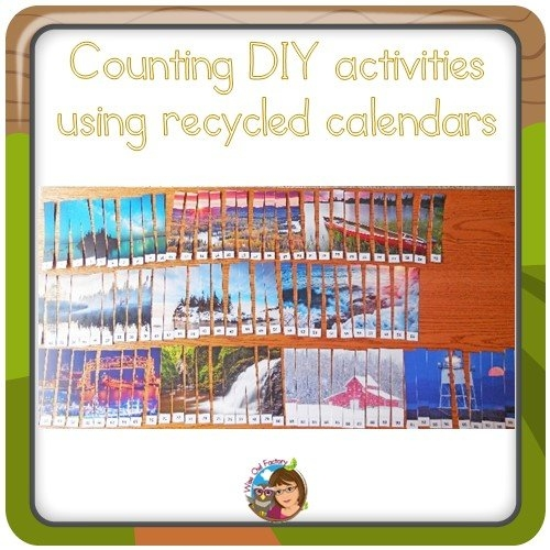 Math Activities With Recycled Calendars • Wise Owl Factory for Wise Owl Calendars Image