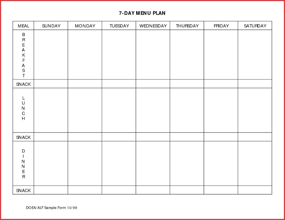 Meal Planning Calendar Template Plan Day Menu Planner inside 10 Day Calendar Graphics