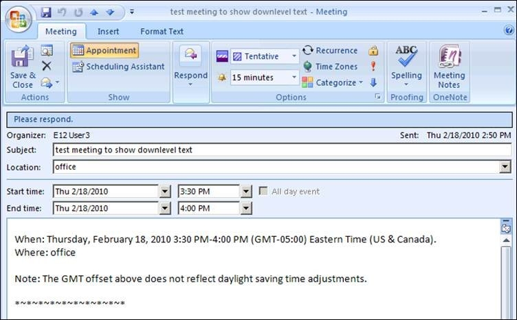 Meeting Request Sent In Outlook 2010 Lacks Where And When throughout Calendar Invite Example Outlook Graphics
