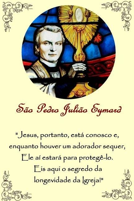Memória De São Pedro Julião Eymard – Santuário E Paróquia De in Dia Juliao Image