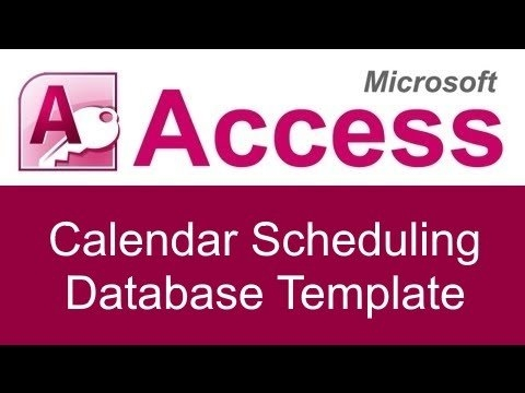 Microsoft Access Calendar Scheduling Database Template with regard to Microsoft Access Calendar Scheduling