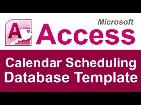 Microsoft Access Calendar Scheduling Database Template - Youtube pertaining to Access Calendar Scheduling Database Graphics