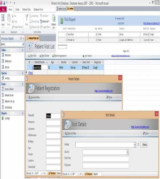 Microsoft Access Templates And Database Examples in Access Database Events Calendar Free Image