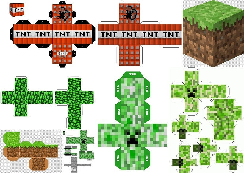 Minecraft Party: Free Printable Boxes. - Oh My Fiesta! For Geeks pertaining to Free Minecraft Printable Schedule