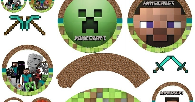 Minecraft Party: Free Printable Wrappers And Toppers. - Oh for Free Minecraft Printable Schedule Image