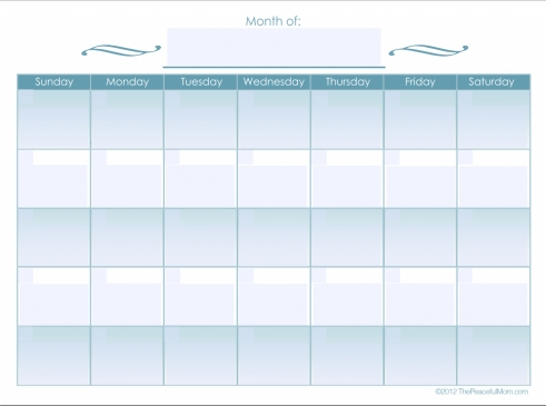 Monthly Calendar Editable Form - Free Editable Calendar intended for Fill In/pribnt Out Calendar
