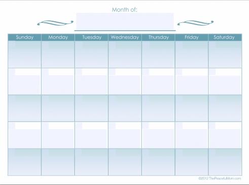 Monthly Calendar Editable Form - Free Editable Calendar within Easy Fill In Calendar