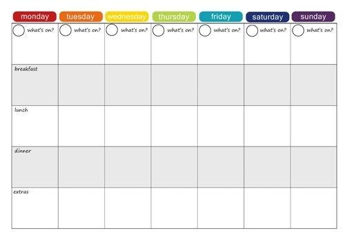 More Free Printable Menu Plans | Menu Planning Printable with Calander You Can Write In
