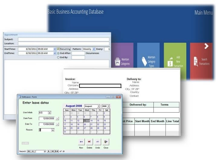 Ms Access Database Templates – Some Are Even Free! regarding Free Microsoft Access Schedule Template