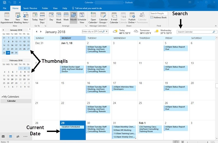 Ms Outlook Calendar: How To Add, Share, & Use It Right for Ms Access Calendar Report Template Image