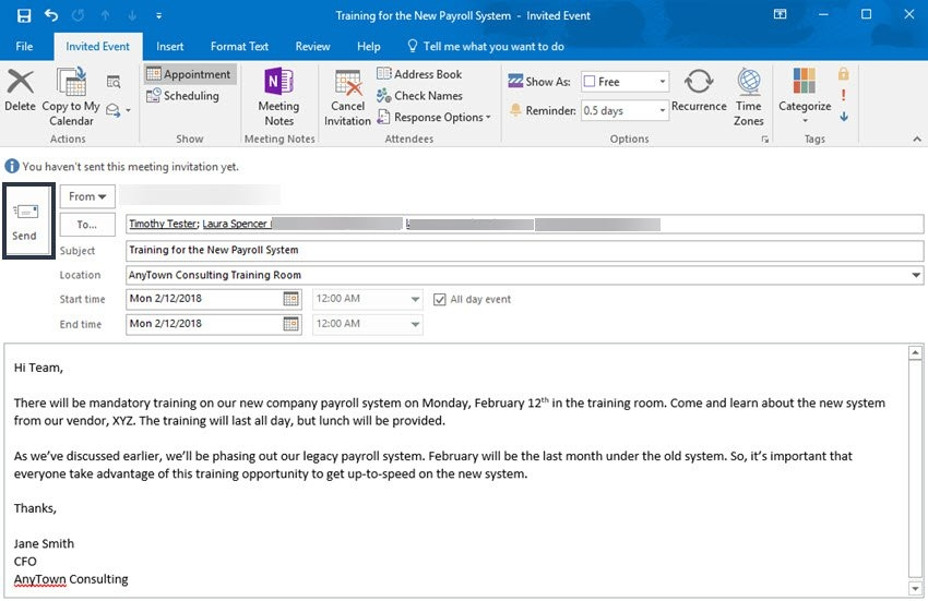 Ms Outlook Calendar: How To Add, Share, & Use It Right regarding Calendar Invite Sample