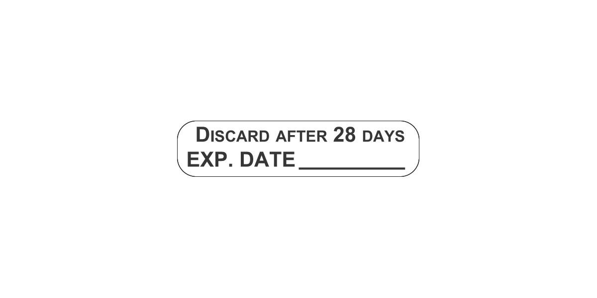 Multi-Dose Vial Labels With Expiration Date | Medline inside Multi-Dose Vial 28-Day Expiration
