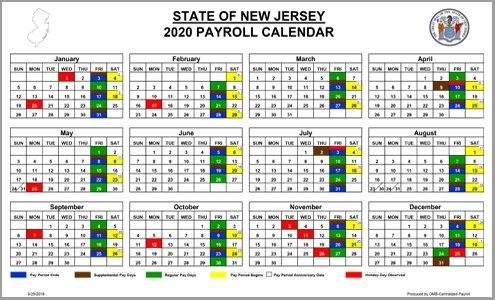 Nj Omb - Payroll regarding Federal Government Pay Period Calendar 2020
