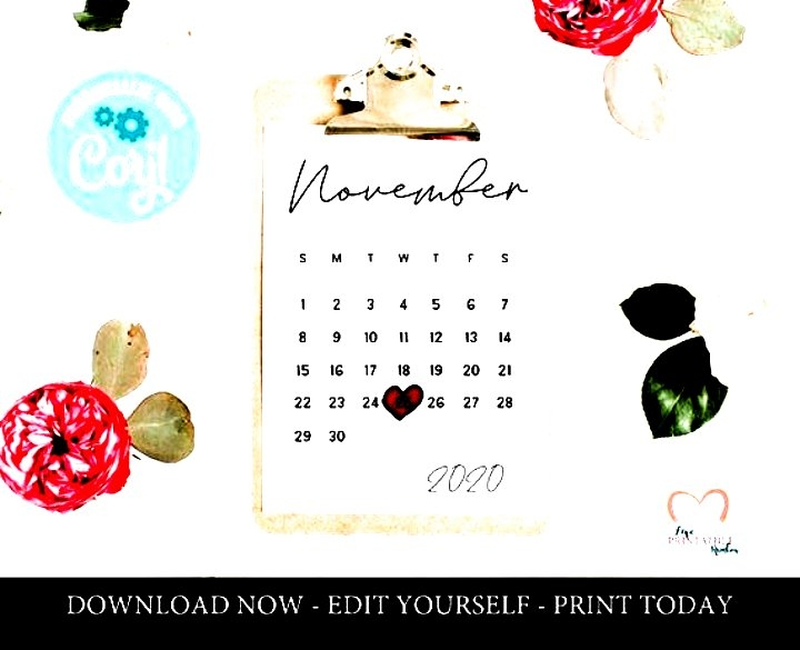 November 2020 Pregnancy Calendar Editable Printable Template with Printable Baby Due Date Template
