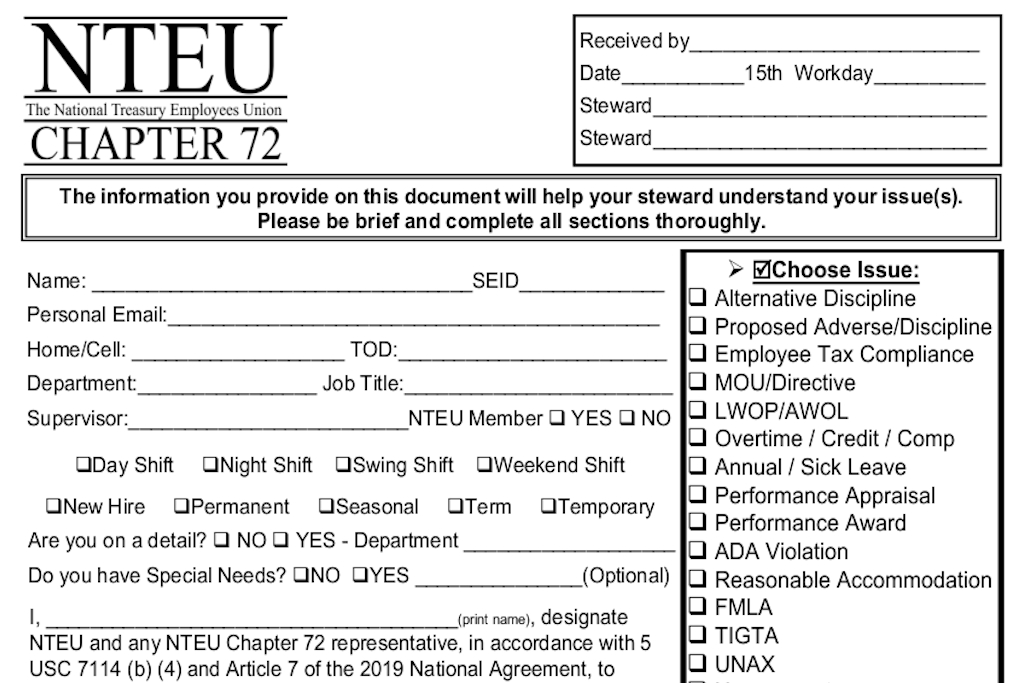 Nteu Chapter 72 throughout Nteu 2020 Leave Chart Photo