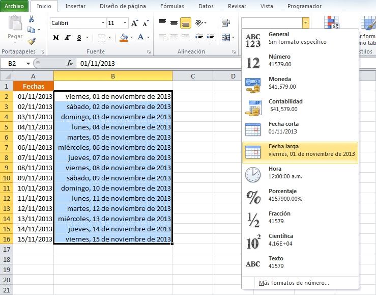 Obtener El Día De La Semana En Excel • Excel Total with Formato Semana En Excel