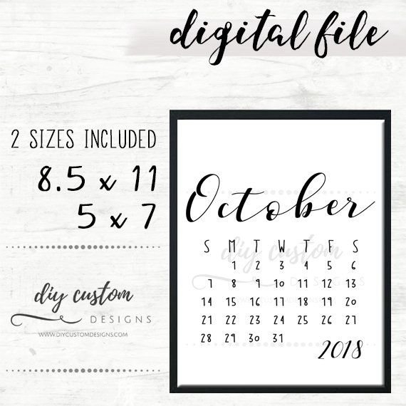 October 2018 Baby Announcement Calendar, Birth Announcement pertaining to Due Date Calender October