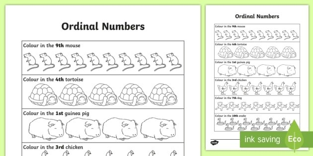 Ordinal Numbers Worksheet (Teacher Made) within September Calendar With Ordinal Numbers Photo