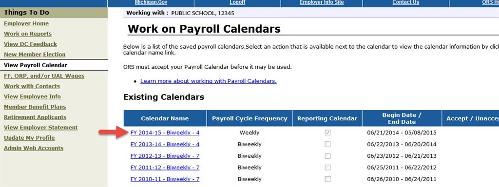 Ors Psru - 7.03.00: Payroll Calendars regarding State Of Michigan Payroll Calendar Image