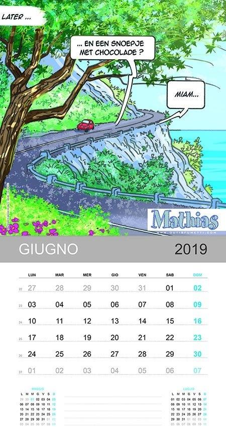 Outis Fumetti Anna E Mathias Calendario Giugno 2019 inside Alice Goldwinn Calendario Image