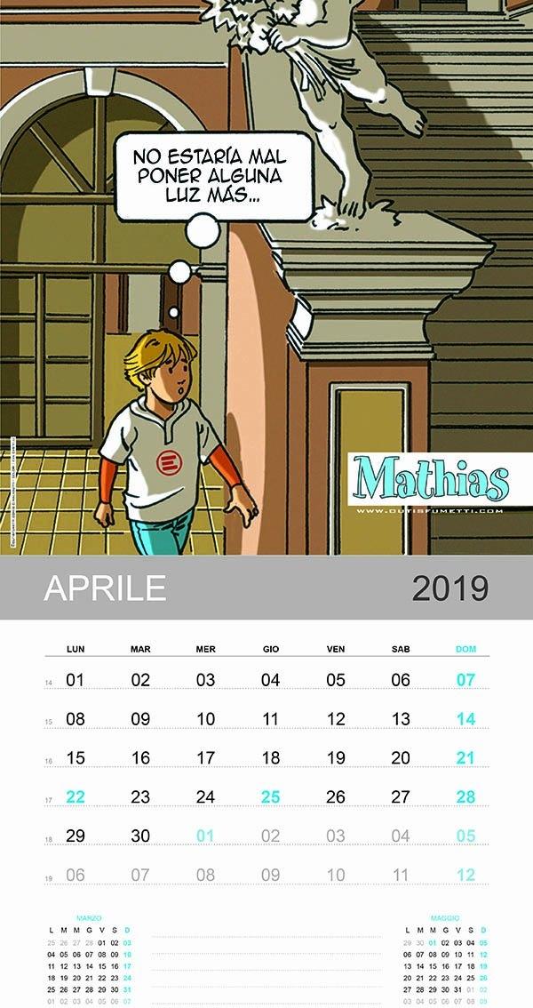 Outis Fumetti Aprile Con Anna E Mathias regarding Alice Goldwinn Calendario Image