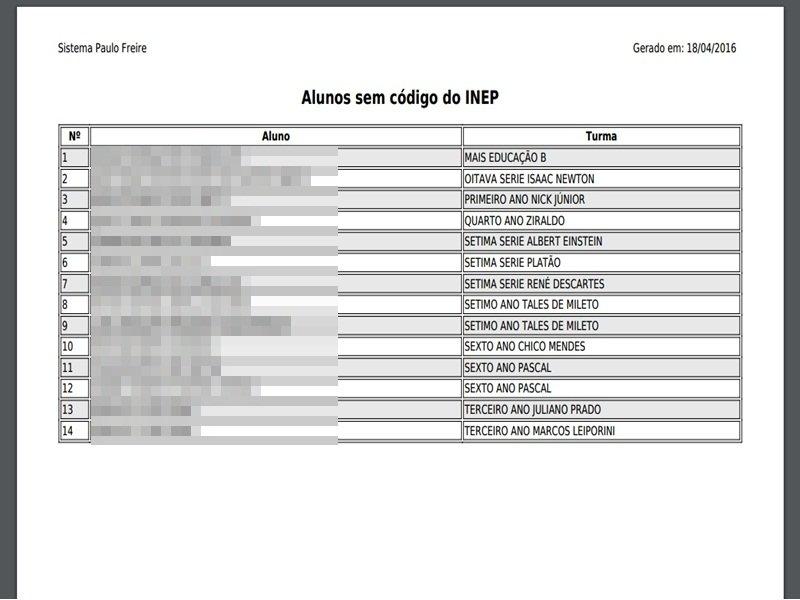 P157 – Alunos Sem Codigo Do Inep   Blog Sipf for Codigo Juliano