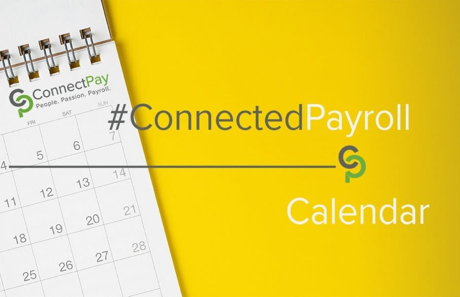 Payroll Calendar Reminders For January 2019 | Connectpay throughout State Of Michigan Payroll Schedule Image