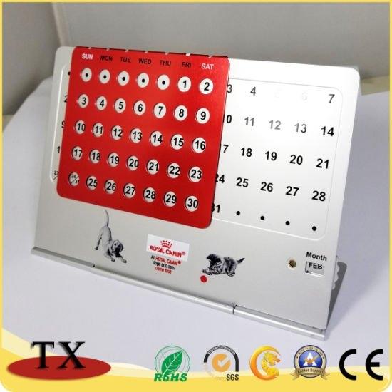 Permanent Metal Desk Perpetual Calendar With Month And Date with Perpetual Calendar Table