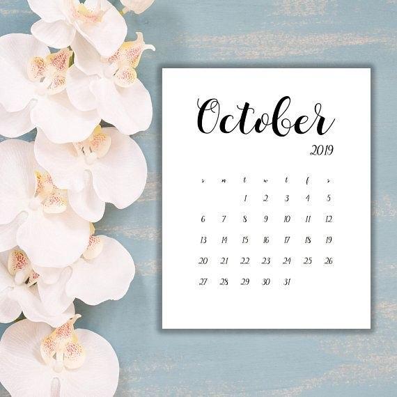 Pin On Calendar 2018 2019 inside Due Date Calender October