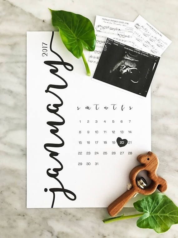 Pin On Pregnancy Announcement Ideas inside Make Your Own Baby Due Date Calendar