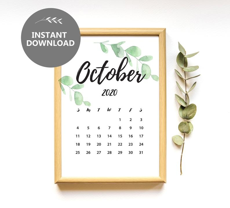 Pin On // Printable Calendars with Due Date Calender October