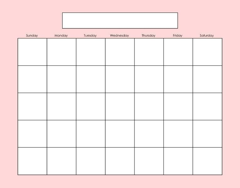 Pinlinore Burkard On Printables | Blank Calendar Pages pertaining to Empty Calendar To Fill Out Graphics