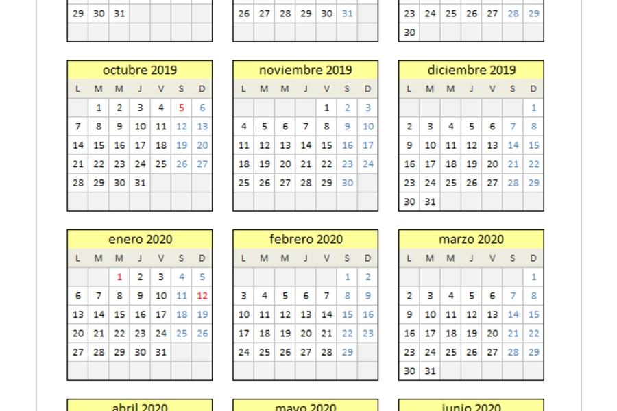 Planillaexcel - Descarga Plantillas De Excel Gratis in Excel Calendario Descargar Image