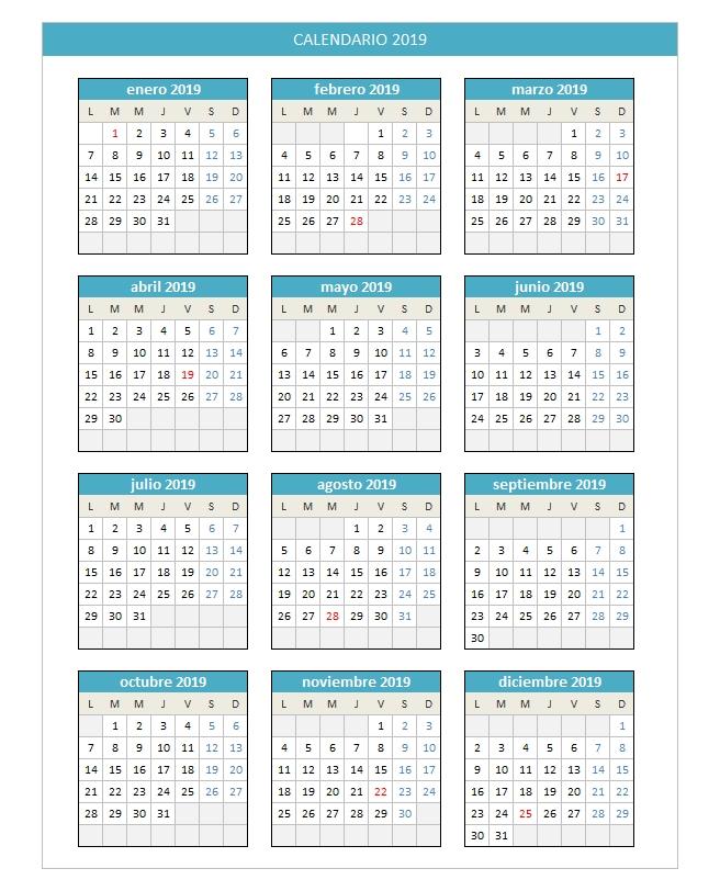 Planillaexcel - Descarga Plantillas De Excel Gratis intended for Calendarios Excel