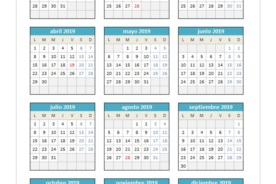 Planillaexcel - Descarga Plantillas De Excel Gratis with regard to Calendarios Excel Photo