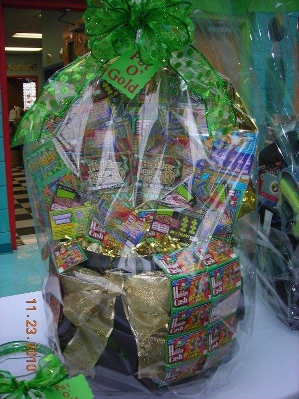 Pot Of Gold Raffle Basket | Auction Baskets, Raffle Basket regarding Lottery Ticket Fundraiser