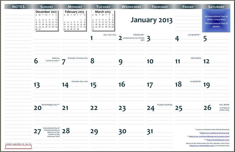 Printable 11×17 Calendar throughout 3 Month Calendar 11X17 Printable