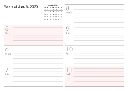Printable 2020 Calendars (Pdf) - Calendar-12 for Calendar 12.com Monday Thru Sunday