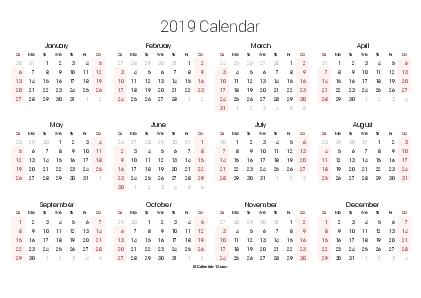 Printable 2020 Calendars (Pdf) - Calendar-12 intended for Calendar 12.com Monday Thru Sunday Image