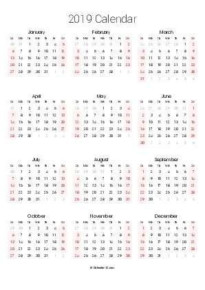 Printable 2020 Calendars (Pdf) - Calendar-12 pertaining to Calendar 12.com Monday Thru Sunday Image