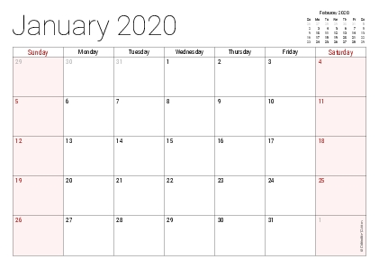 Printable 2020 Calendars (Pdf) - Calendar-12 with Calendar 12.com Monday Thru Sunday