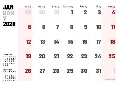 Printable 2020 Calendars (Pdf) - Calendar-12 with regard to No Frills Basic Calendar 2020 Photo