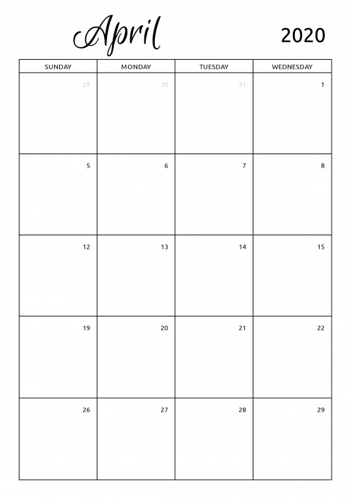 Printable 2020 Calendars Templates - Download Pdf throughout Free Printable Lined Monthly Calendar 2020