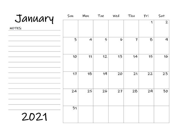 Printable 2021 Blank Calendar Templates - Calendarlabs for Printable Calendar Large Spaces