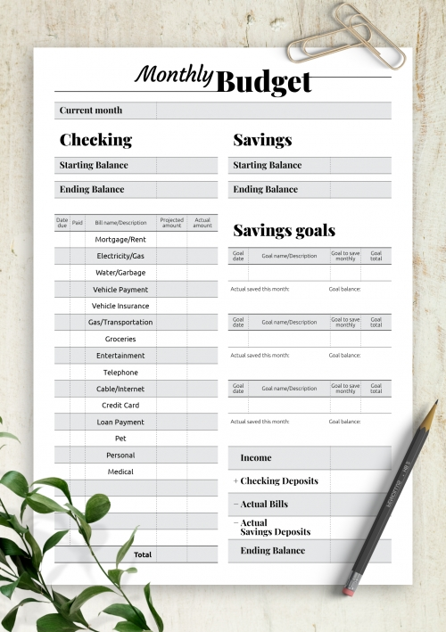 Printable Budget Templates - Download Pdf A4, A5, Letter Size in Free Printable A5 Monthly Bill Planner Pages
