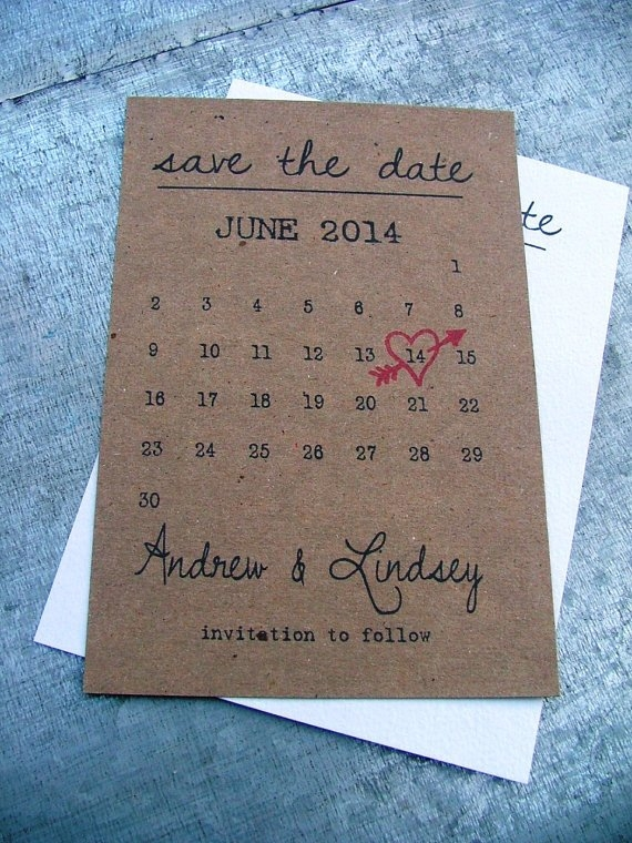 Printable Calendar Save The Date Cards, Heart Date in Save The Date Printable Calendar Templates Graphics